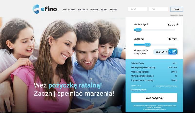 Pożyczka Efino w 15 minut